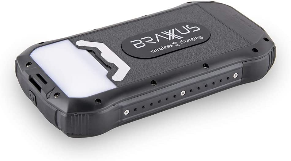 Braxus Solar Battery Pack 4 outputs 26,800mAh Fast Charge IPX7 Waterproof /& Solar Charger Power Bank Wireless Solar Cell Phone Charger 3 LED Light Settings Portable Solar Phone Charger