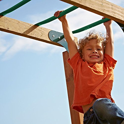 Monkey Bars for Kids by Swing-N-Slide  Green, Perfect for Ou