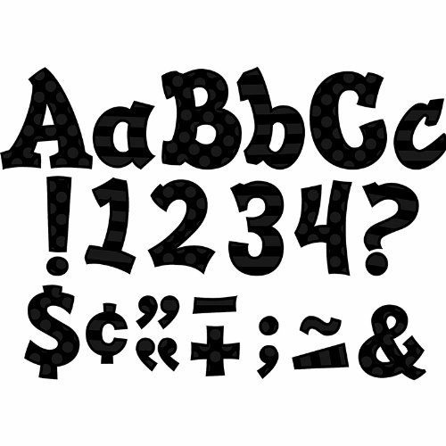TEACHER CREATED RESOURCES BLACK 5IN SASSY FONT (Set of 3)