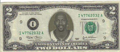 Michael Jordan $2 Mint! Rare! $1