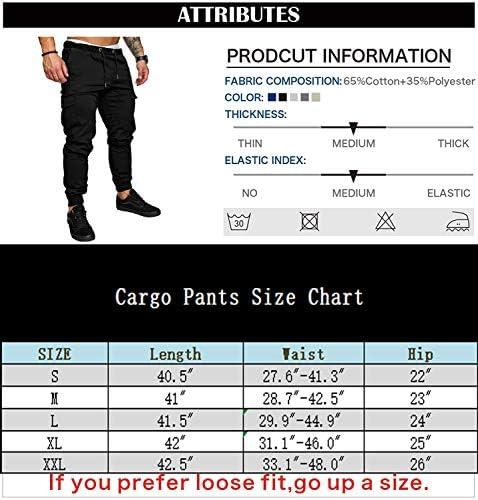 THWEI Men's Cargo Pants Slim Fit Casual Jogger Pant Chino Trousers Sweatpants