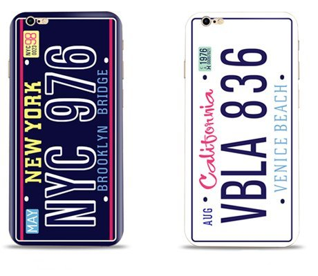 1 x Best Friends Besties Bff Gifts Couple Matching Stuff For Girl Boy Kids iPhone 6 Case-Funny Cool NYC CA Vehicle License Bumper Case Bff Stuff Gifts