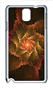 Samsung Note 3 Case The Flowers Abstract Artistic Design PC Custom Samsung Note 3 Case Cover White