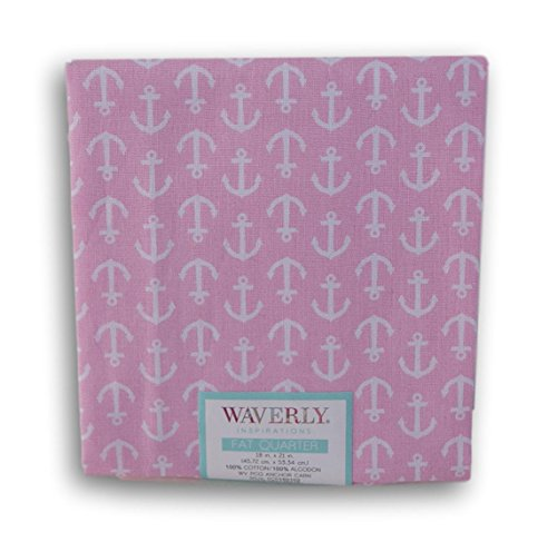 Waverly Inspirations Fat Quarters - Soft Pink with White Anchors -