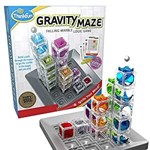Gravity Maze is one of ThinkFun's most popular stem toys for boys and girls, and was a Toy of the Year Award winner in 2017, in the Specialty Category. It's a gravity powered maze game that comes with 60 challenges of increasing difficulty, from begi...
