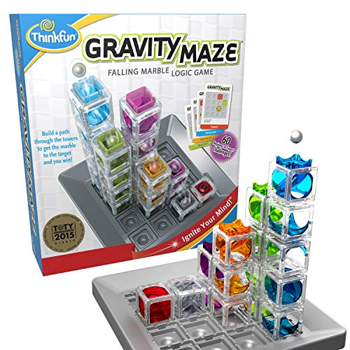 ThinkFun Gravity Maze Marble Run Logic Game and STEM Toy for Boys and Girls Age 8 and Up - Toy of the Year Award winner (Game Kids Marble)