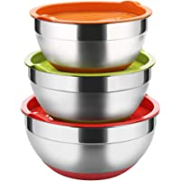 Deals on Stainless Steel Mixing Bowls with Lids Set of 3