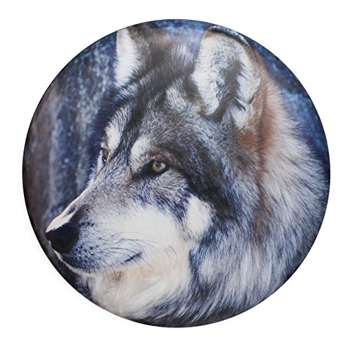 Tire Spare Cover Truck (Wolf Gaze Eyes Universal Spare Tire Wheel Cover Car Truck SUV Camper Fits Jeep Wrangler CRV FJ RAV4 H2 H3 Land Rover Discovery EcoSport Outlander Grand Vitara R15 M (Diameter 28