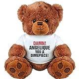 Funny Valentines Damn Angelique You A Dimepiece: Medium Plush Teddy Bear