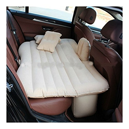 Beige Car Self-drive Air Bed Sleeping Seat Inflatable Back Seat Mattress + Pillow/Pump from Unknown