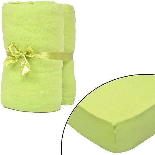 Tidyard 2 Fundas de colchón,Verde Manzana Colchón Protector ...