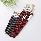 good01 25Pcs Acrylic Pen Set Art Special Nylon Hair Paint Brush Set Wooden Handle Watercolor Oil Painting Tools