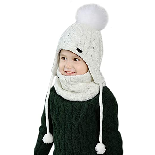 1bcf3877d Amazon.com: Kids Winter Hat and Scarf Set for Baby Girls Boys ...