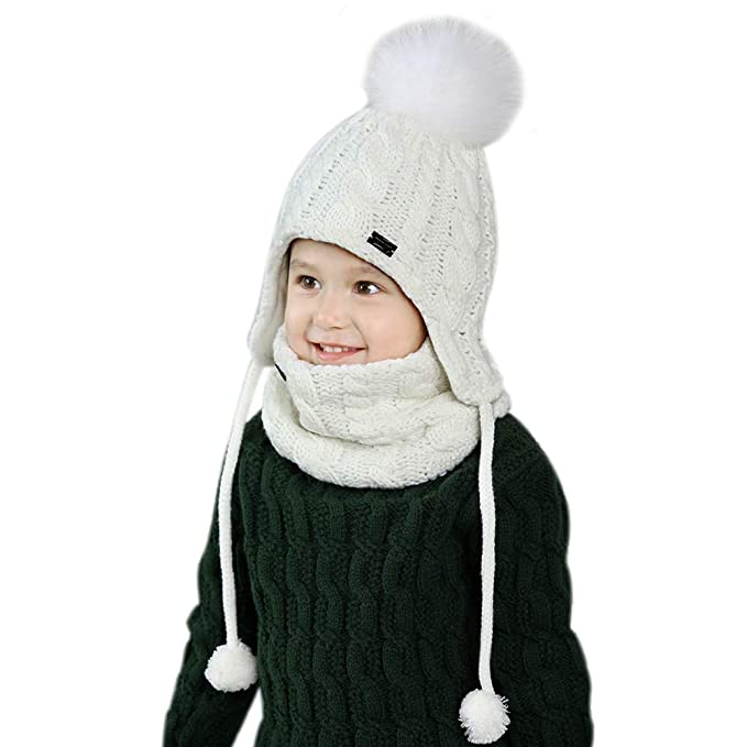 2018 Autumn Winter Children Hat Scarf Set Crochet Baby Hat Girls Boys Caps Cartoon Baby Boy Cap Scarf Sets Kids Child Hats Scarf Selling Well All Over The World Boy's Accessories Apparel Accessories