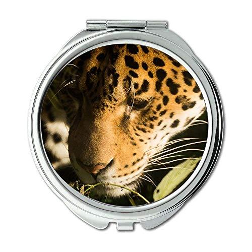 Mirror,makeup mirror,africa animal cat,pocket mirror,portable -