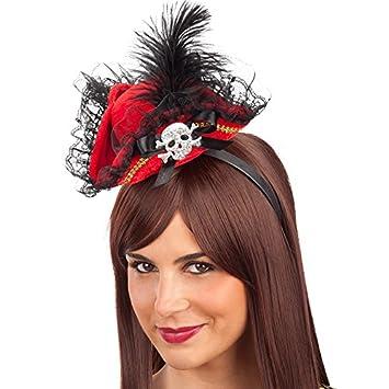 Carnaval 06107 - Mini Sombrero Piratessa con diadema d5a37eb1d20