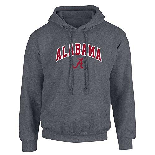 Alabama Crimson Tide Hooded Sweatshirt Heather Gray - - Grey Alabama Hoodie