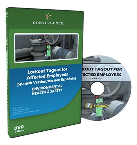 Convergence Training C-441-ES-AR Lockout Tagout for Affected Employees DVD, Spanish
