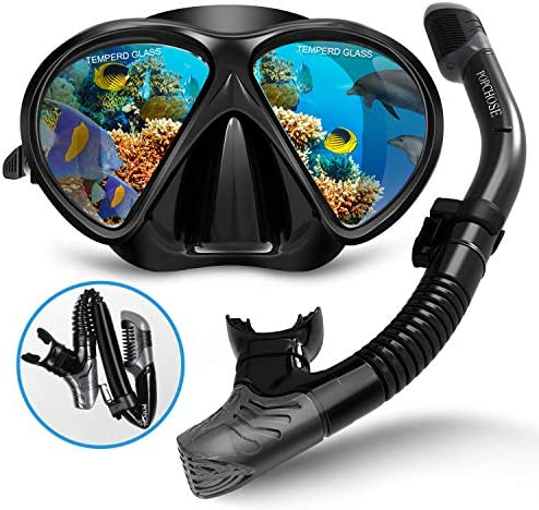 POPCHOSE Silicone Snorkeling Anti Leak Adjustable