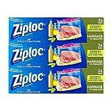ziploc half gallon bags - Ziploc All Purpose Marinade Bags, 3 Pack, 24 ct