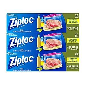 Ziploc All Purpose Marinade Bag, 72 Count