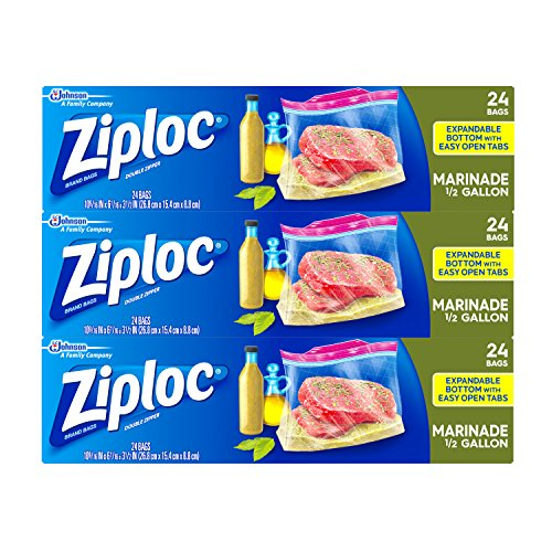 ziploc half gallon bags - 1