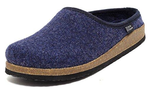 Damen Hausschuhe Slipper ECHTES WOLLFILZ blau / navy Gr. 37-41
