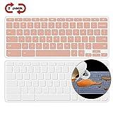[2 Pack] Lapogy Acer Chromebook 14 Keyboard Cover Skin Compatible Acer Chromebook 14 CB3-431 CP5-471 14-inch, Acer Chromebook Spin 13 CP713,acer chromebook Accessories,Clear+Rosegold