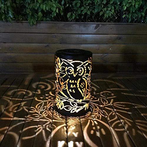 Whitelotous Metal Rattan Solar LED Hanging Lantern Light IP44 Waterproof Outdoor Garden Yard Decor Lamp