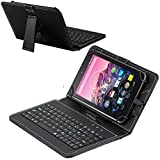 Navitech Folding Leather Folio Case Cover & Stand with Removable Keyboard Compatible with The Lenovo Yoga Tab 3 Pro 10