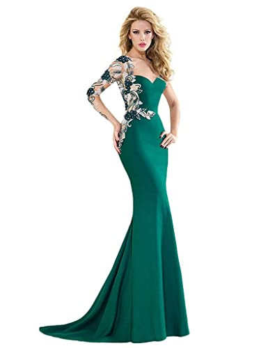 VERNASSA Women's Long Bridesmaid Dress Chiffon Formal Evening Dress