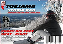ToeJamR Snowboard Stomp Pad - Furry Yettie - Right - Gray