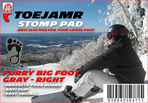 ToeJamR Snowboard Stomp Pad Furry Yettie Right Gray