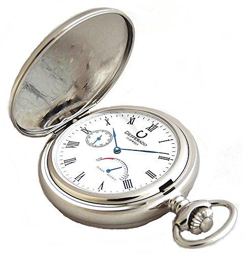 (Desperado Automatic Mechanical Pocket Watch with Power Reserve Indicator, 33 Jewels, 530W)