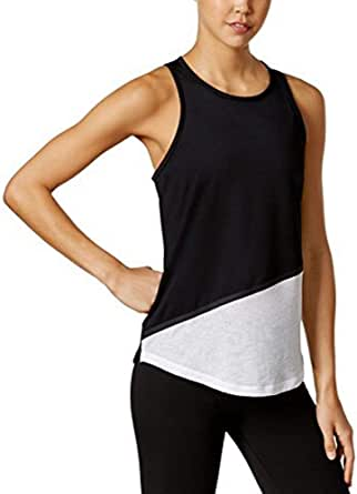 Ideology Womens Colorblock Fitness Tank Top