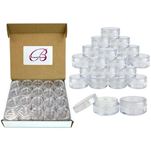 Cosmetic Containers Empty Jars 10 G 10 ML Clear Lid Plastic