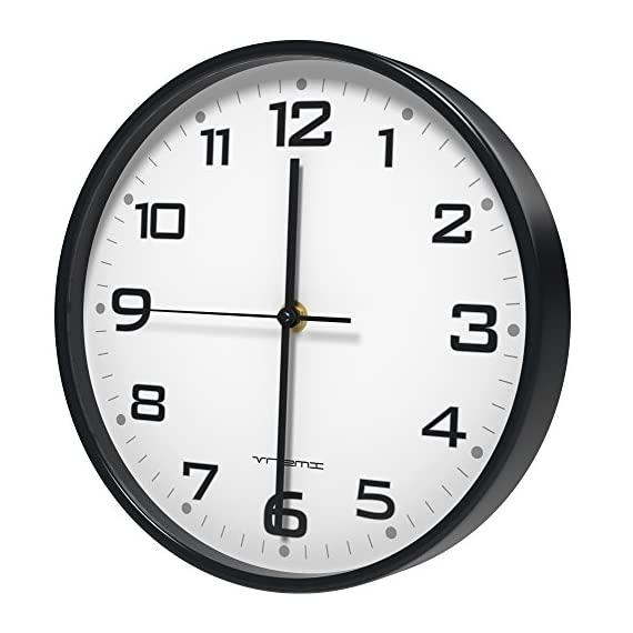 Vremi 10 Inch Silent Universal Round Wall Clock - AA Battery Operated Colorful Analog Clock for Home Office Classroom or… -  - wall-clocks, living-room-decor, living-room - 51I7egV1rkL. SS570  -