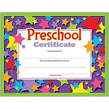 Amazon.com: Preschool Certificates (Pack of 30): Office Products