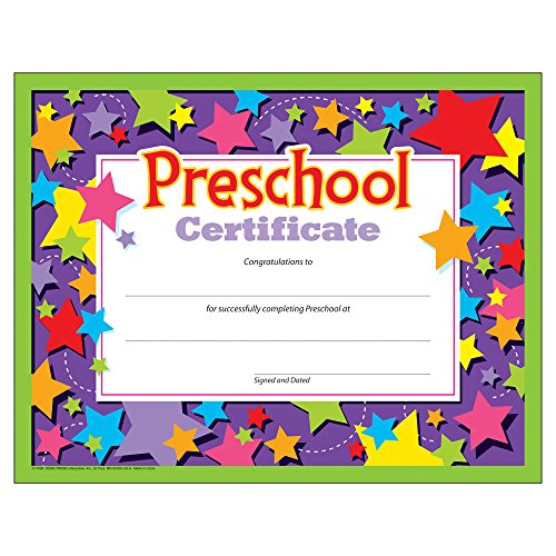 Preschool Certificates (Pack of 30) -