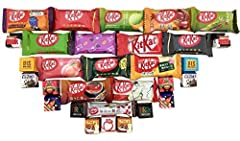 4 different chocolate set from 20 to 50 chocolate Japanese kitkat are smaller compare the American version . SET 20 10 kit kat all different flavors 10 tirol 5 flavors x 2 DOUBLE 10 KitKat all different flavors x 2 SET 30 15 Kit Kat all diffe...