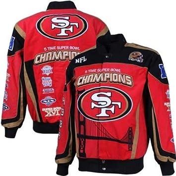 official photos f2aa8 54cd0 Amazon.com : San Francisco 49ers Championship Denim Jacket ...