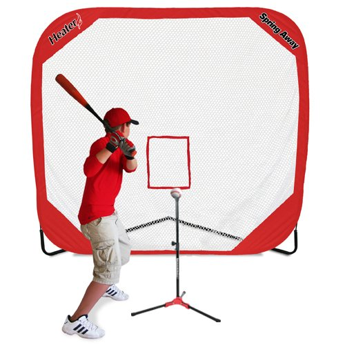 Heater Sports FT99 Flop Top Travel Tee & 7' x 7' Pop-Up Net by Heater Sports