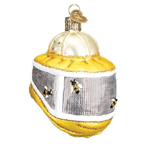 Old World Christmas Bee Collection Glass Blown Ornament (Bee Keeper Hood), fun bee ornaments for christmas