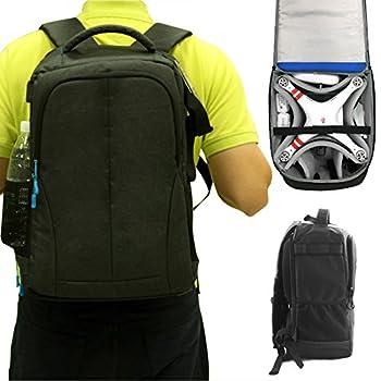 Gartt Waterproof Nylon with Anti Theft Design Backpack for DJI Phantom 4 / PRO, Phantom 3 Professional, Advanced, Standard, 4K Quadcopter, Traveling Shoulder Bag Fits Extra Accessories GoPro Cameras