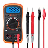 Multimeter Neoteck Pocket Digital Multimeters Multi Tester Voltmeter Ammeter Ohmmeter AC/DC Voltage DC Current Resistance Diodes Transistor Audible Continuity Tester with Backlight LCD