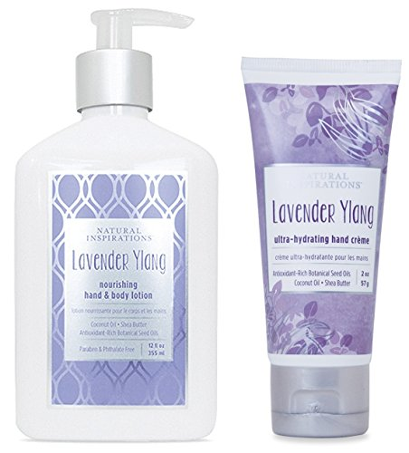 (Natural Inspirations Hand & Body Lotion and Hand Creme Gift Set - Lavender Ylang)