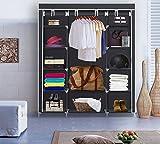 UMARDOO Clothes Closet Storage Non-woven Fabric Wardrobe Storage OrganizerPortable withMetal Shelves and Dustproof