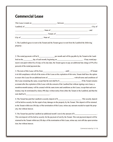 Amazon.com : Adams Commercial Lease, Forms and Instructions (LF140 ...