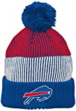 NFL Youth Boys Team Stripe Cuff Pom Hat-Royal -1 Size, Buffalo Bills