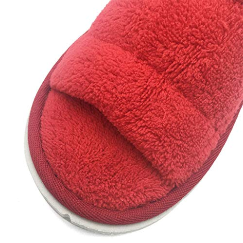 Women Spa house Fleece Open S Paia Pantofole Toe red ' Red Slipper Coral 10 R08rqRw